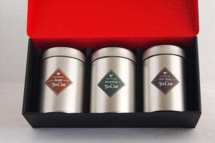 紅茶リーフティー3缶ギフト「ピュアダージリン・アッサム・アールグレイ」