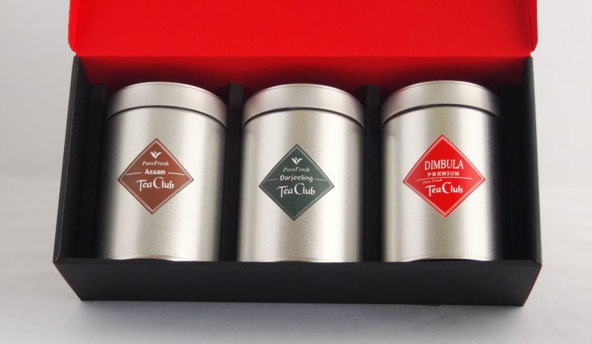 紅茶リーフティー3缶ギフト「ピュアダージリン・アッサム・ディンブラ」