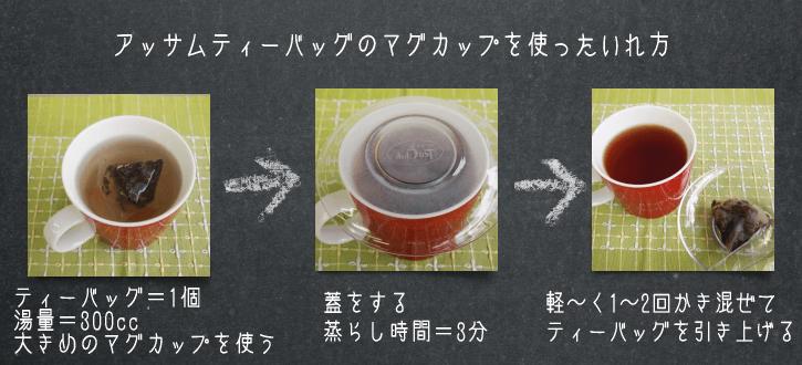 アッサムティーバッグをマグカップで作る方法