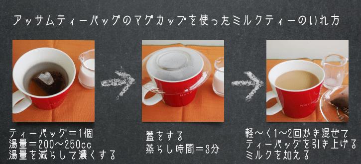 ティーバッグで作るミルクティー