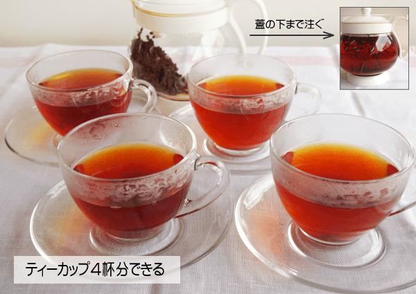 ティーカップ4杯分の紅茶