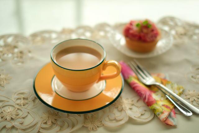 ウバ紅茶のミルクティー