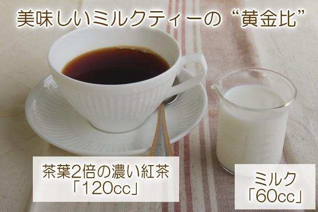 美味しいミルクティーの黄金比
