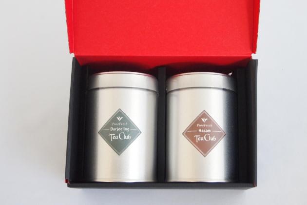 紅茶2缶ギフト「ピュアダージリン&アッサム」