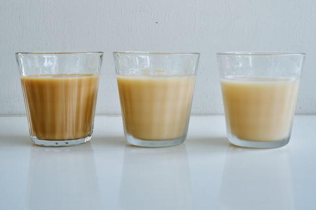 ミルクティーの比較